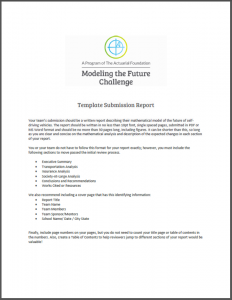 Modeling the Future Challenge Template Report